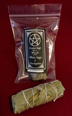 WHITE SAGE & EUCALYPTUS SMUDGE  BUNDLE 4in