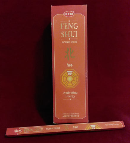 FENG SHUI FIRE INCENSE  8-ct