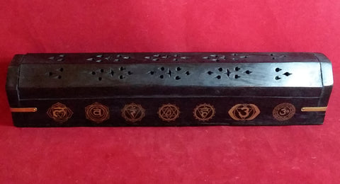 CHAKRA COFFIN BOX INCENSE BURNER