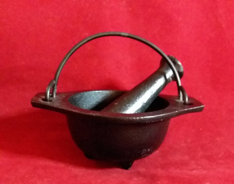 CAST IRON MORTAR AND PESTLE 3""