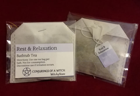 REST AND RELAXATION BATHTUB TEA