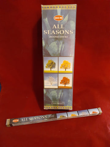 ALL SEASONS INCENSE 8-ct