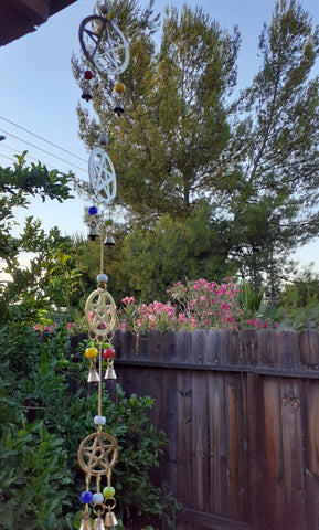 PENTACLE WIND CHIME 23inches