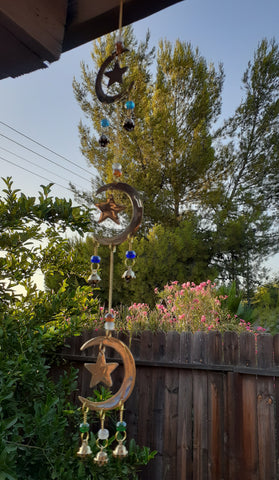 STAR AND MOON WIND CHIME-LARGE