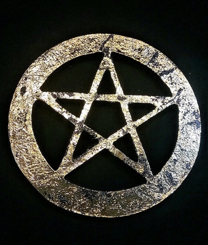 PENTACLE ALTAR TILE ANTIQUE FINISH