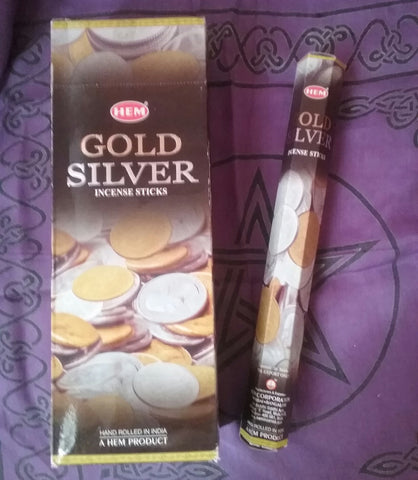 GOLD SILVER INCENSE