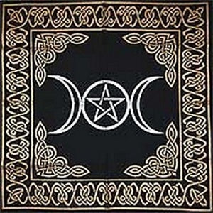 TRIPLE GODDESS PENTACLE- GOLD AND SILVER