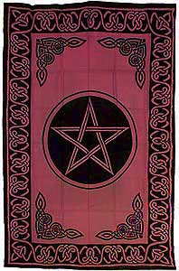 RED PENTACLE TAPESTRY