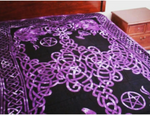 "PURPLE PENTACLE TAPESTRY 108""X 72"""