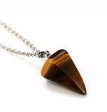 TIGERS EYE PENDULUM NECKLACE