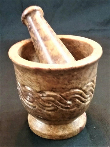 CELTIC WEAVE MORTAR AND PESTLE