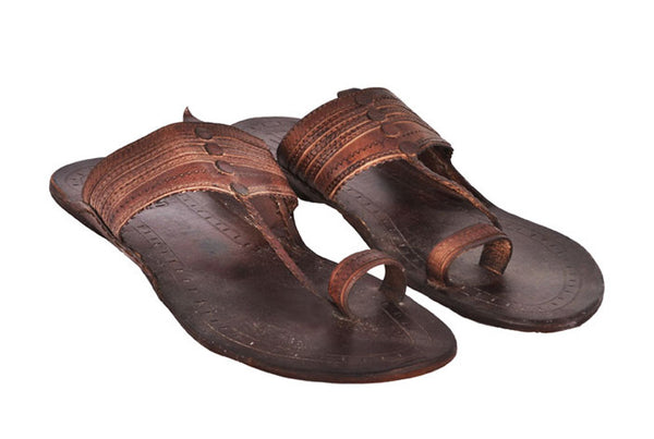 Men Brown Leather Kolhapuri Chappal