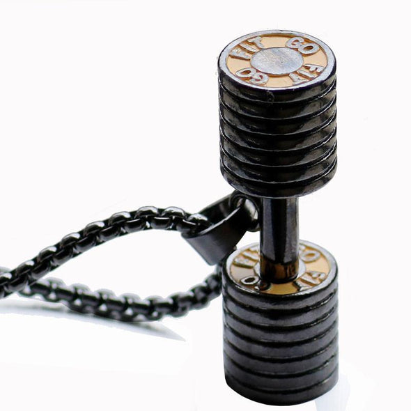 Dumbbell Necklace-FitCover Collective