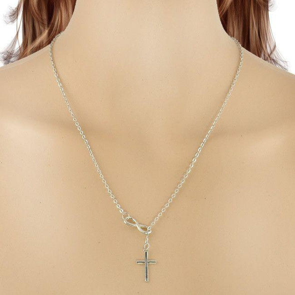 Silver Cross Pendant-FitCover Collective