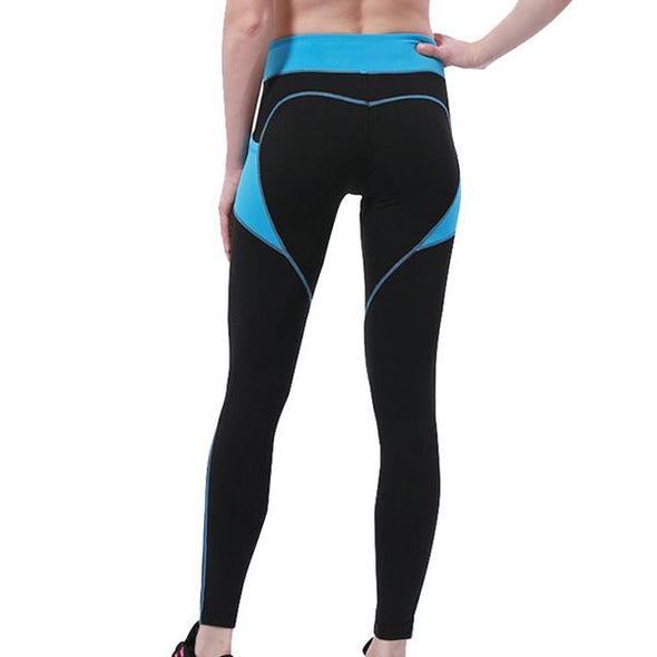 Zoie Heart Pattern Fitness Leggings