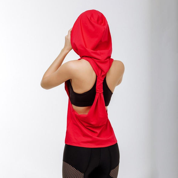 FitCapri Little Red Hoodie