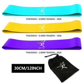 FitCapri Yoga Resistance Bands Set