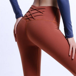 FitCapri Cross-Back Yoga Leggings