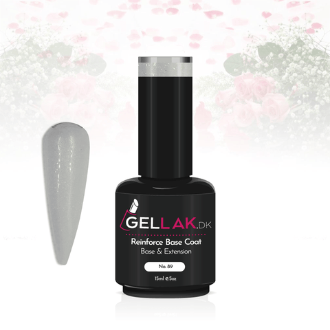 Gellak.dk Glimmer Reinforce Base Coat 15 ml | No. 89