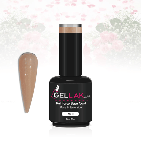 Gellak.dk Glimmer Reinforce Base Coat 15 ml | No. 91