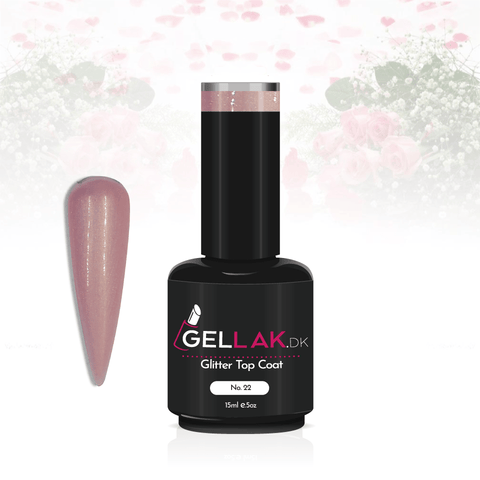 Gellak.dk Glimmer Top Coat 15 ml | No. 22