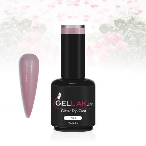 Gellak.dk Glimmer Top Coat 15 ml | No. 5