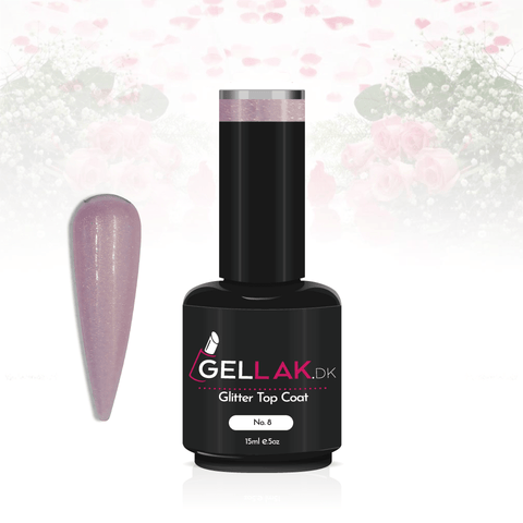 Gellak.dk Glimmer Top Coat 15 ml | No. 8