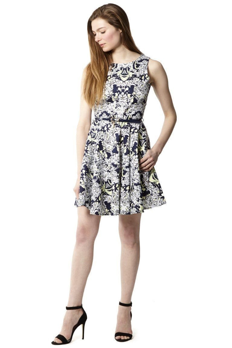 D138280 baroque print skater dress van Stella