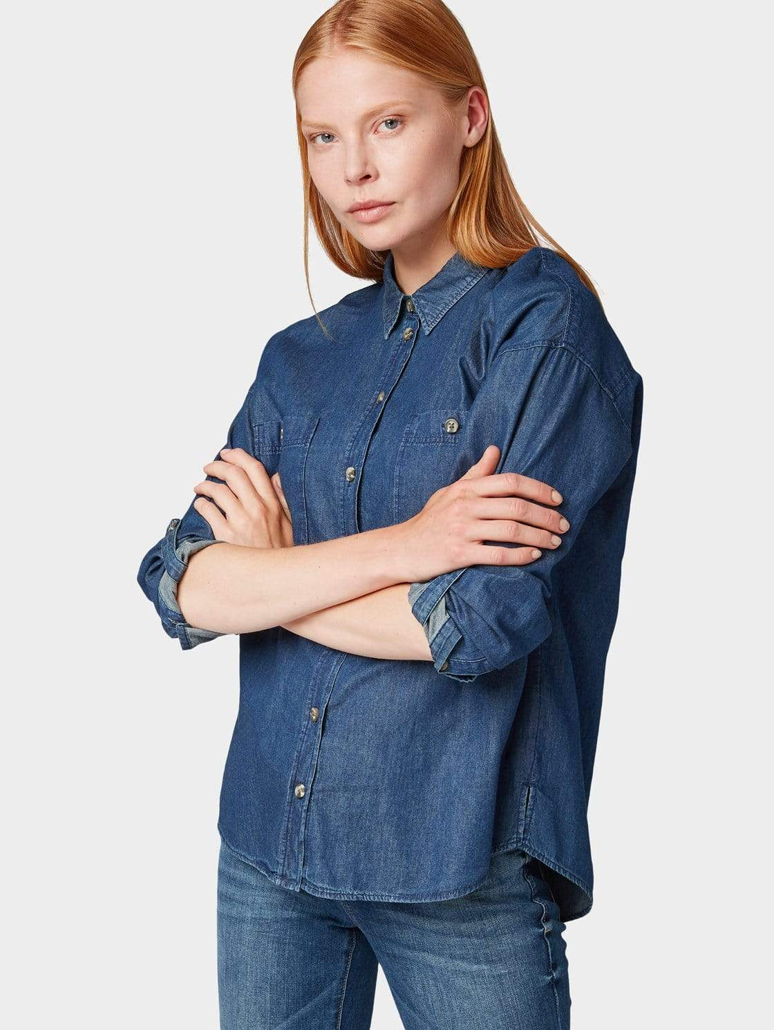 denim blouse en andere Shirts van Tom Tailor