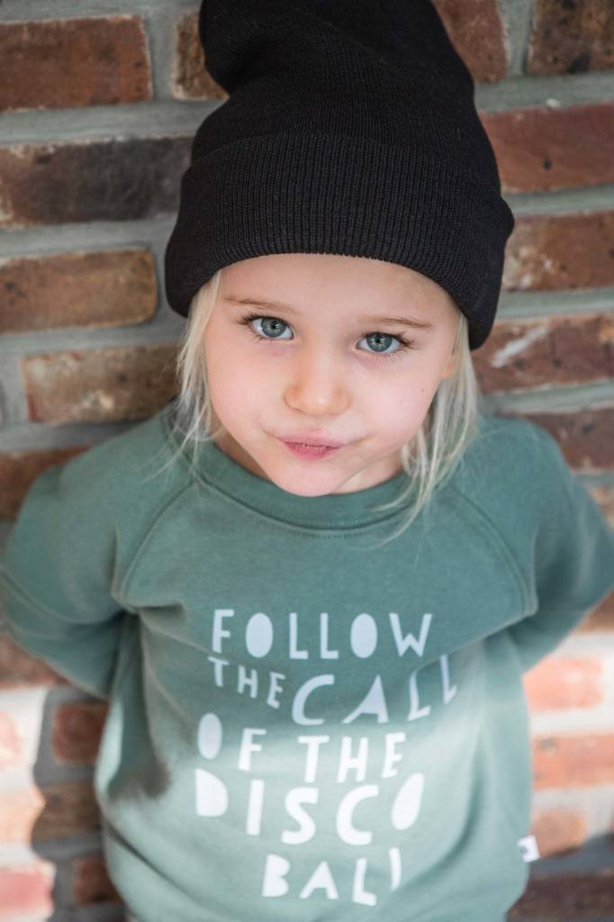 FOLLOW THE CALL OF THE DISCO BALL SWEATER (56-74) en andere Kids van Cos i said so
