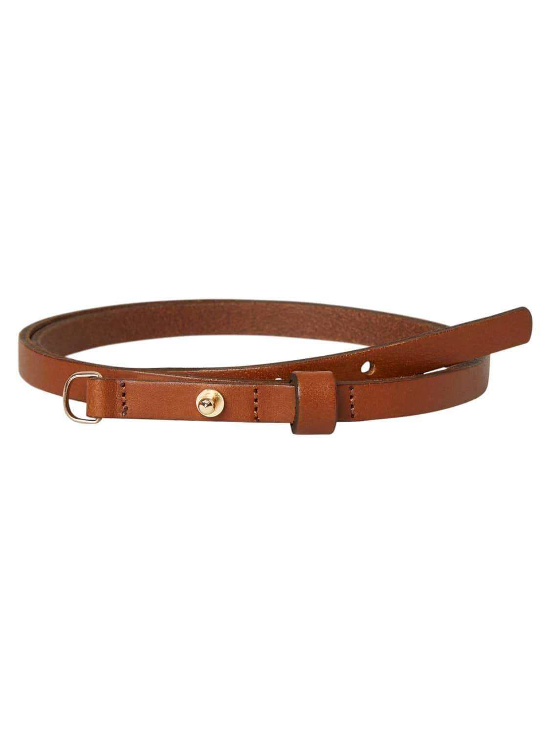 PCENYA LEATHER WAIST BELT (zwart of cognac) van Pieces