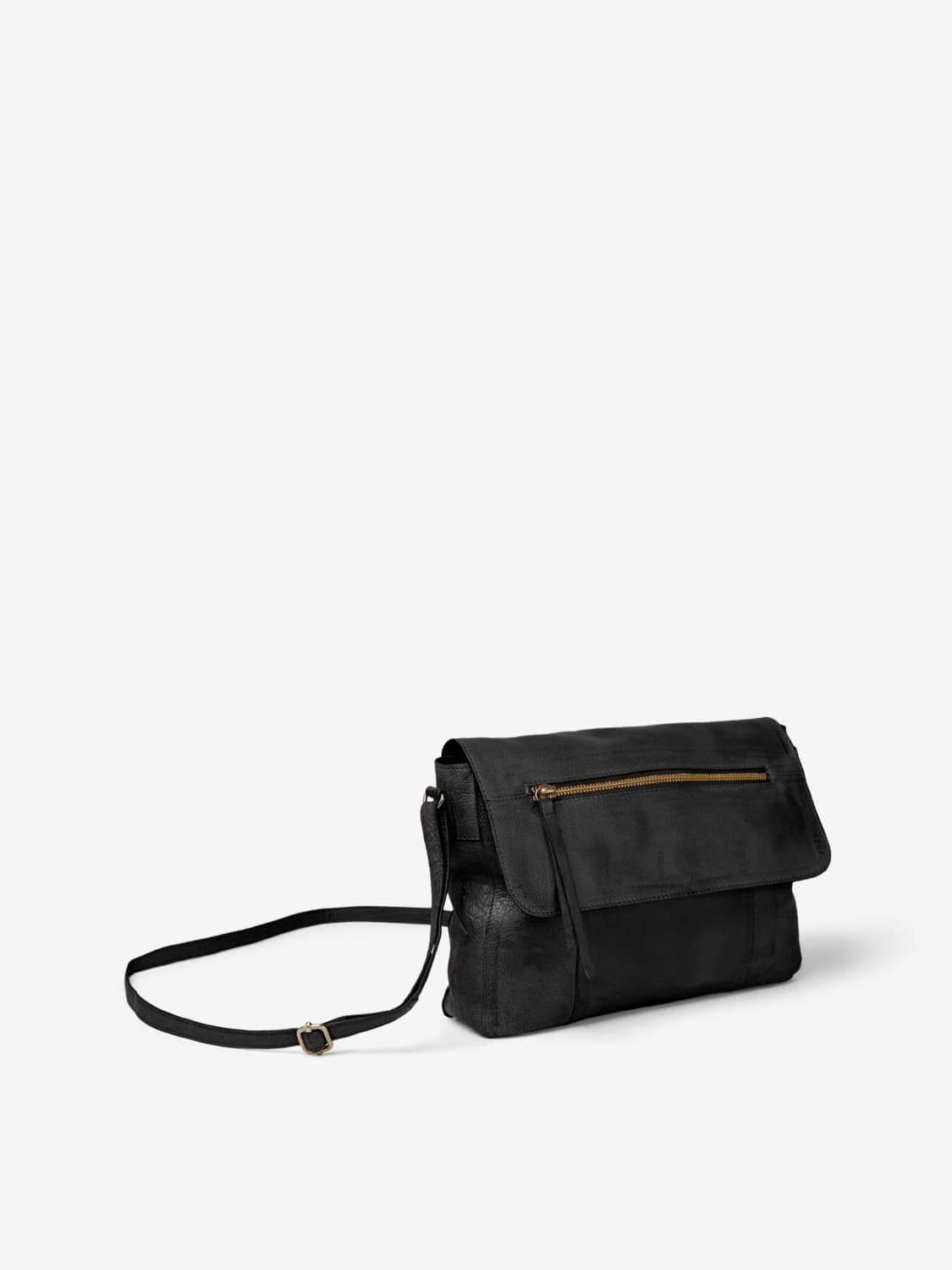 PCKIMONO LEATHER CROSS BODY NOOS (bruin of zwart) en andere Handtassen van Pieces