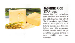 Premium Natural Handmade Jasmine Rice Soap ±100g - Soul Rich Woman