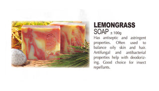 Premium Natural Handmade Lemongrass Soap ±100g - Soul Rich Woman