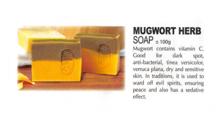 Premium Natural Handmade Mugwort Herb Soap ±100g - Soul Rich Woman