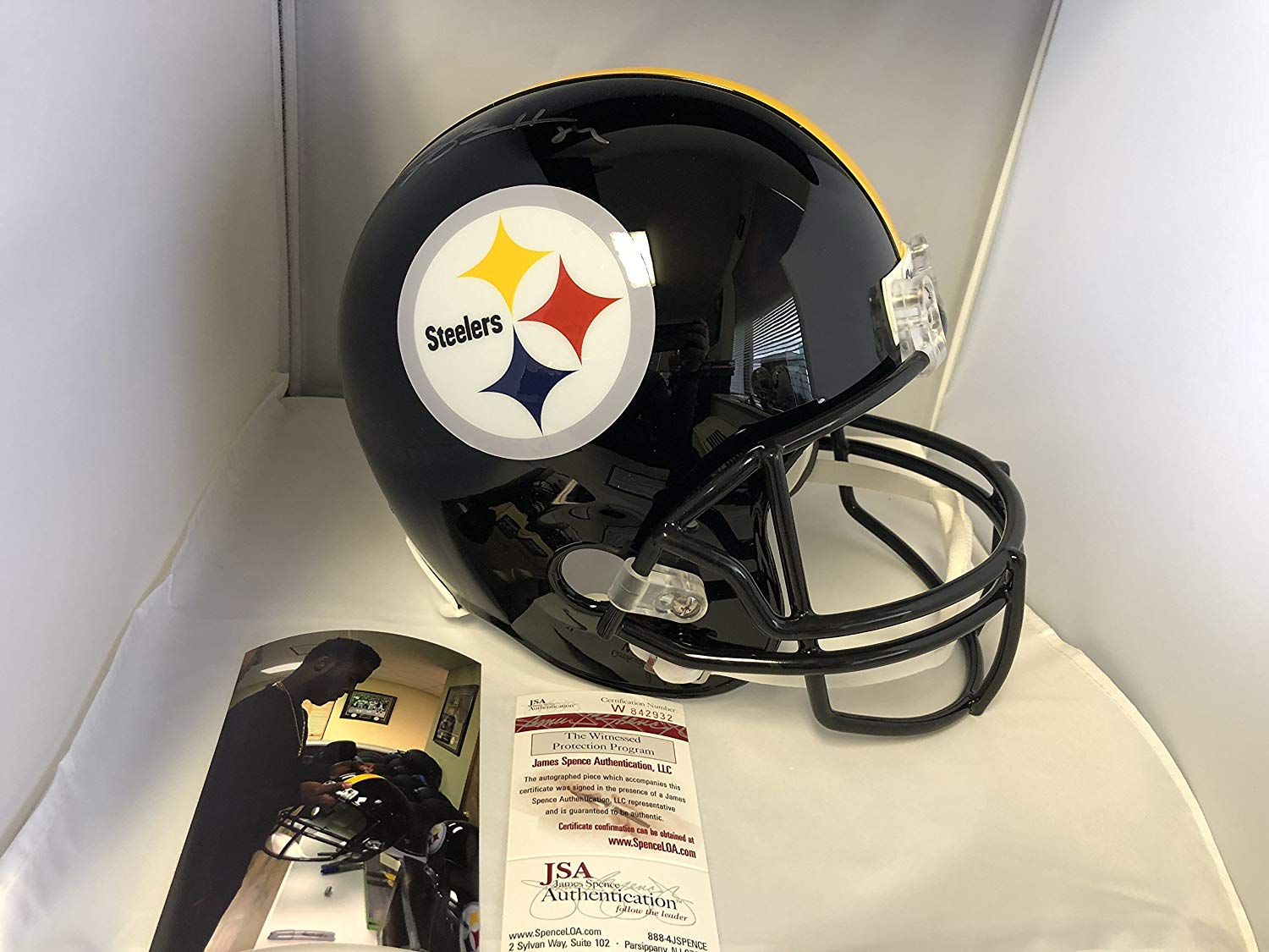 Antonio Brown Autographed Signed Pittsburgh Steelers Full Size Helmet –  Signature Dog Autographs 6452a8342