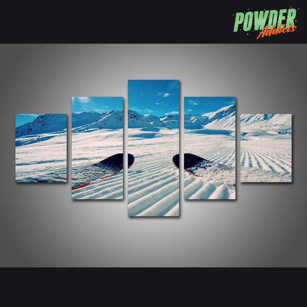 Fresh Tracks 5 Piece Canvas