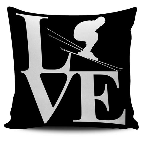 Love Ski Cushion Cover