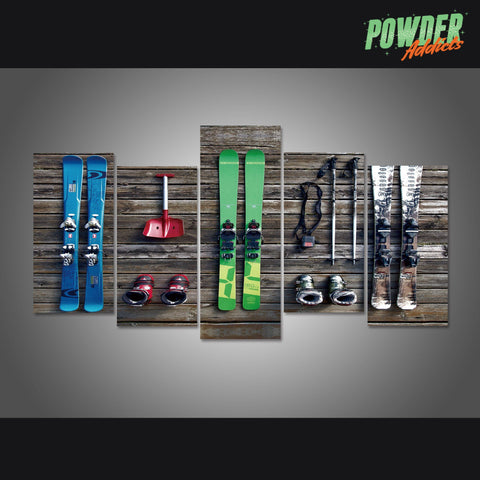 My Needs Are Simple - Ski 5 Piece Canvas - Powderaddicts
