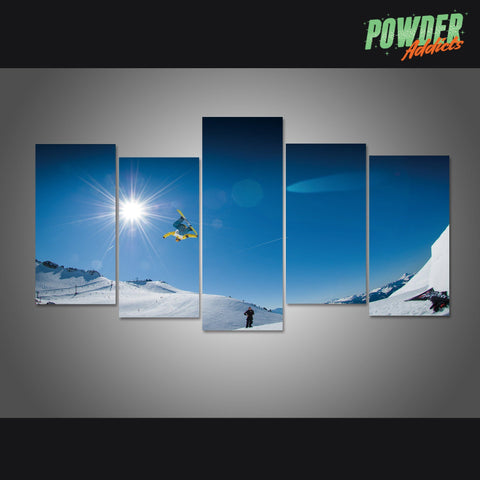 Pow Life 4 Piece Canvas - Powderaddicts