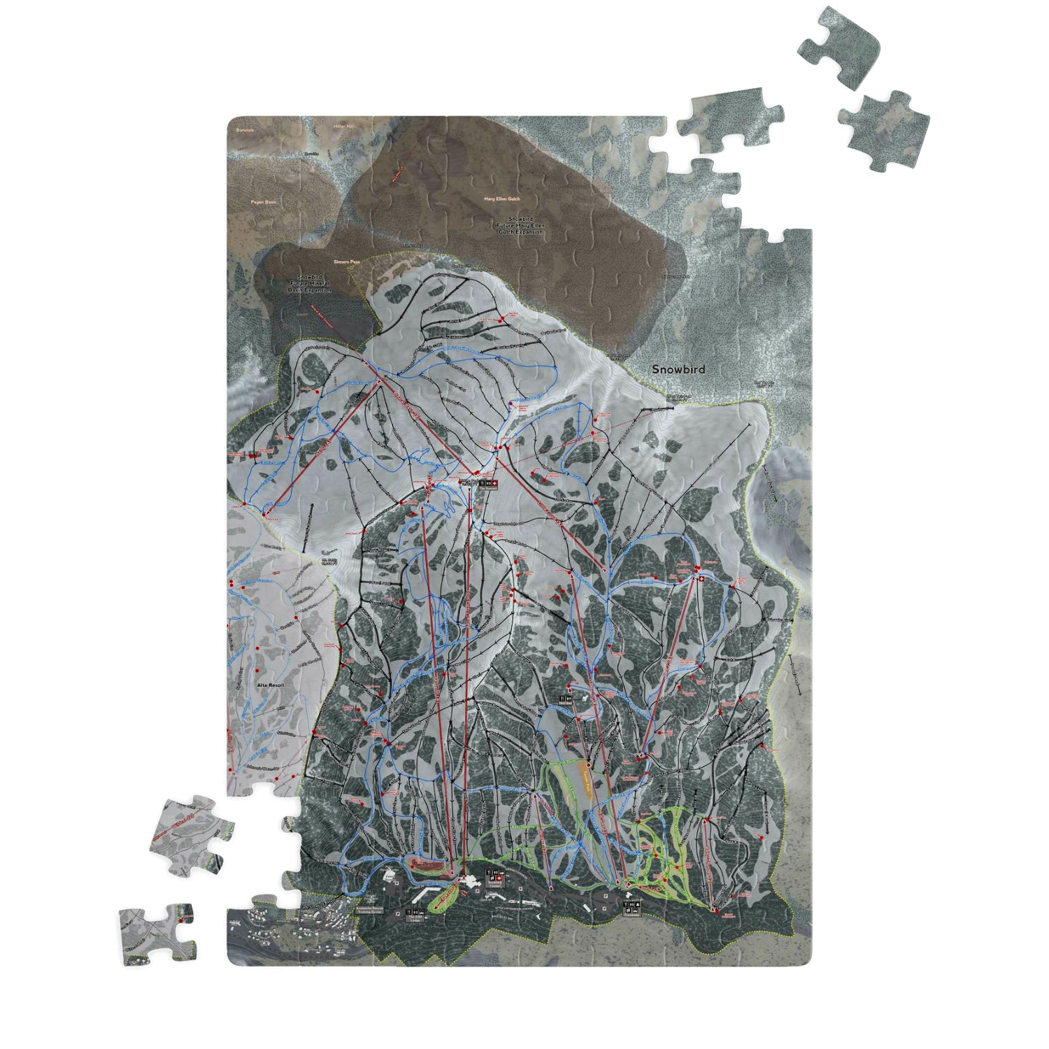 Snowbird, Utah Ski Resort Map Jigsaw Puzzle