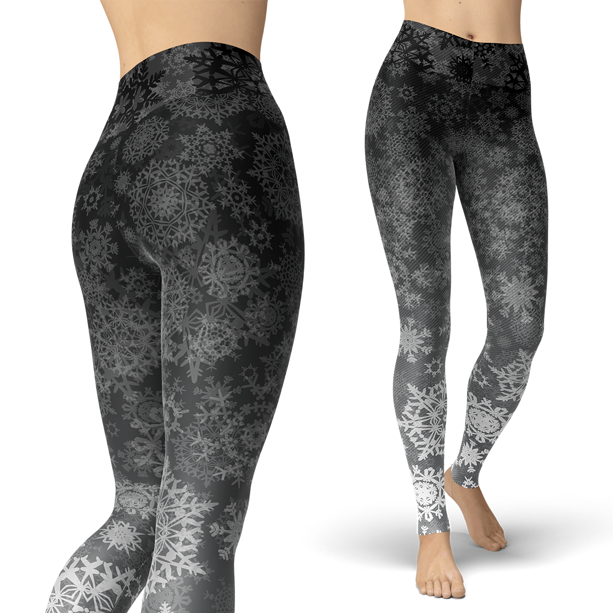 Grey Gradient Snow Leggings - Powderaddicts
