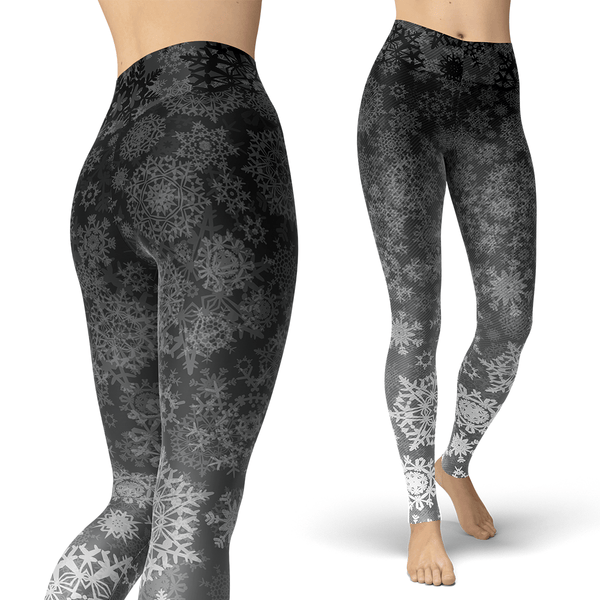 Grey Gradient Snow Leggings