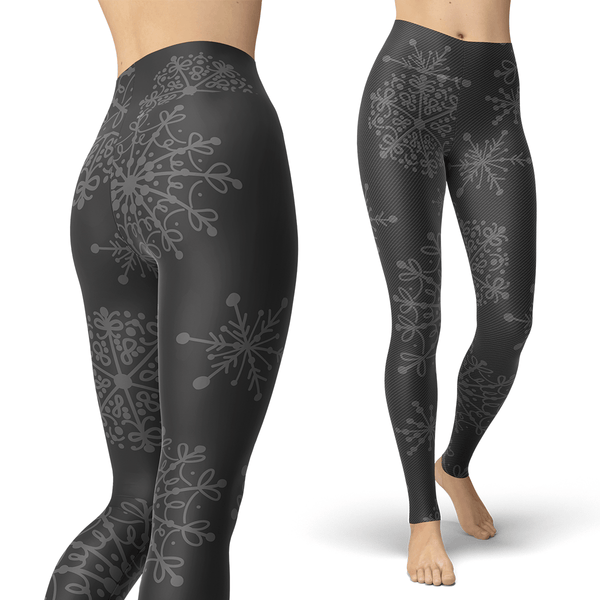 Charcoal and Grey Snow Leggings