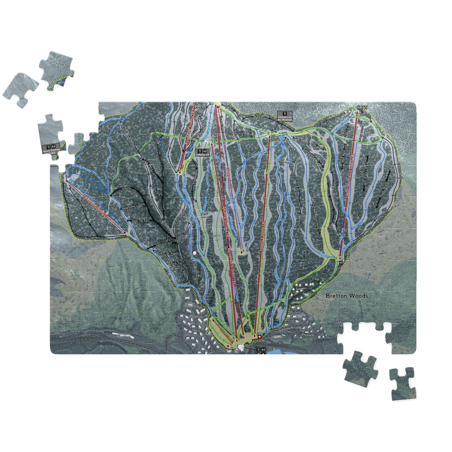 Bretton Woods New Hampshire Ski Resort Map Puzzles