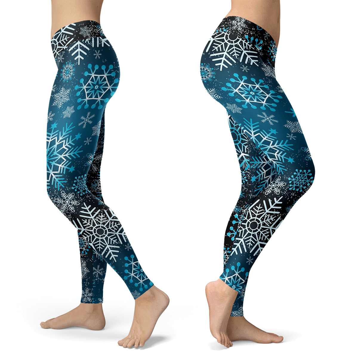 Blue Grunge Snow Leggings - Powderaddicts