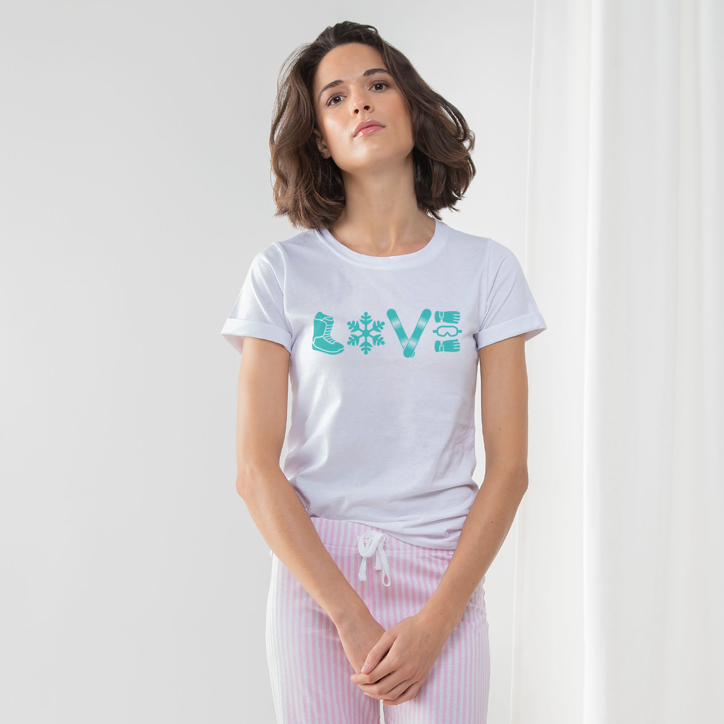 LOVE-SNOWBOARD PAJAMA SET