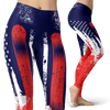 USA Snowboard Flag Red Leggings - Powderaddicts