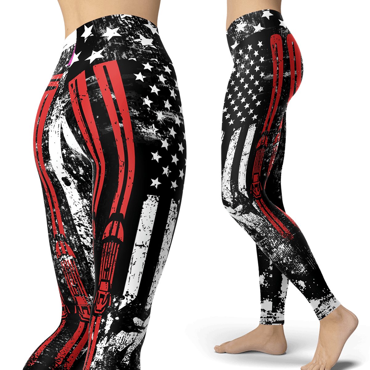 USA Ski Flag Leggings - Powderaddicts