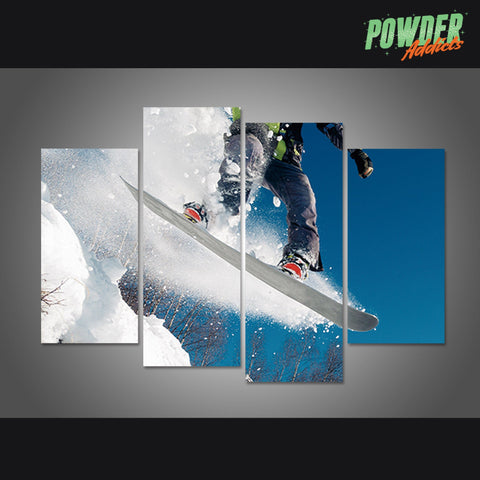 Snowboarder's Jump 4 Piece Canvas - Powderaddicts